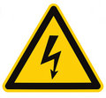 Electrical Hazard High Voltage Sign Isolated Macro Royalty Free Stock Photo