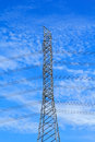 Electrical high-voltage metal pillar Royalty Free Stock Photo