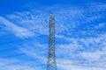 Electrical high-voltage metal pillar Royalty Free Stock Photo
