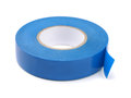 Electrical insulating tape blue isolated on white Stock Image