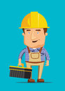 Electrical maintenance technician worker human job illustration