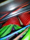 stock image of  Electrical and network cables