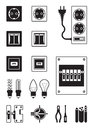 Electrical network devices Stock Photos