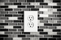 Electrical Outlet Set in a Modern Kitchen Backdrop Royalty Free Stock Photo