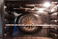 Electrical oven household in mint condition Royalty Free Stock Photo