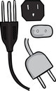 Electrical Plugs Stock Images