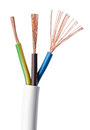 Electrical power cable IEC standard over white Royalty Free Stock Photo