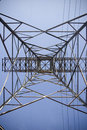 Electrical pylon against blue sky Royalty Free Stock Photo