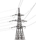 Electrical pylon isolated on white background Royalty Free Stock Photo