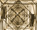 An electrical pylon viewed from underneath Royalty Free Stock Photo