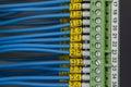 Electrical signaling wiring Royalty Free Stock Photo