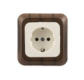 Electrical socket isolated Royalty Free Stock Photo