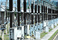 Electrical transformer  substation Stock Images
