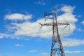 Electrical transmission pylon. Royalty Free Stock Photo