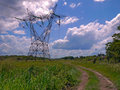 Electrical transmission tower Royalty Free Stock Image