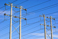 Electrical Transmission Towers Stock Image