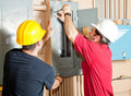 Electrician Teamwork Stock Photography