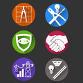 Electricity icons vector this is file of eps format Royalty Free Stock Photos
