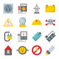 Electricity icons vector set.