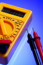 Electricity multimeter Stock Photo