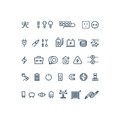 Electricity outline vector icons
