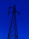 Electricity pillar before night Royalty Free Stock Photo