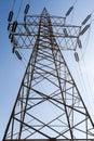 Electricity pillars Royalty Free Stock Photo