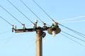 Electricity pole Royalty Free Stock Photo
