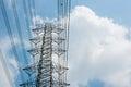 Electricity post daylight blue sky Royalty Free Stock Photo