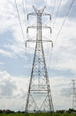 Electricity post is very big Royalty Free Stock Image