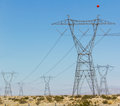 Electricity power constructions view with Stock Images