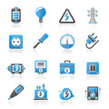 Electricity power and energy icons vector icon set Royalty Free Stock Photo