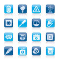 Electricity power and energy icons vector icon set Stock Images