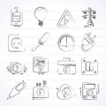 Electricity power and energy icons vector icon set Stock Photo