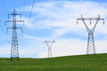 Electricity Power Transmission Lines Royalty Free Stock Photography
