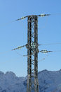 Electricity pylon in the mountains Royalty Free Stock Image