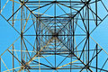 Electricity pylon in perspective Royalty Free Stock Photos