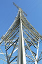 Electricity pylon in perspective Royalty Free Stock Photo