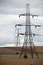 Electricity pylons oxfordshire countryside uk Stock Photos
