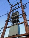 Electricity sub station electrical power supply for small community Royalty Free Stock Photos
