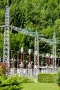 Electricity supply station setup Royalty Free Stock Photo
