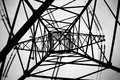 High-voltage support of 330 kV transmission line Royalty Free Stock Photo