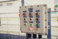 Electricity switch power control box Royalty Free Stock Photo