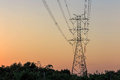 Electricity tower and electric line Royalty Free Stock Photo