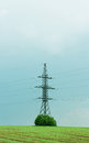 Electricity tower and power wires Royalty Free Stock Photo
