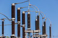 Electricity transformer connections power sub station cable Stock Images