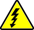 Electricity warning symbol Royalty Free Stock Photo