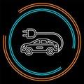 stock image of  Electro car icon. Logo element illustration