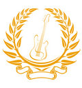Electro guitar symbol Royalty Free Stock Photo