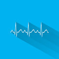 Electrocardiogram ecg or ekg medical icon vector Stock Photography